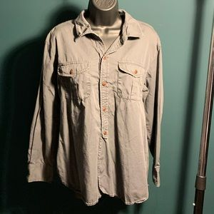 like new Madewell grey brown button up top (7/$35)